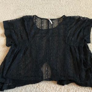 Free people lace crop top large